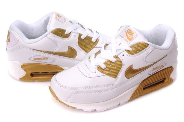 nike air max femme blanche et or